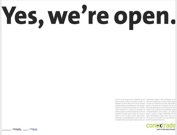 Panorama-Anzeigen-Kampagne für Conextrade