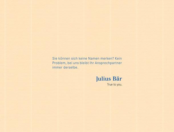 Publikums-Anzeigen für Bank Julius Bär