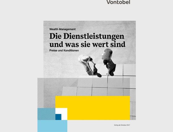 Preis-Broschüre für Vontobel Wealth Management