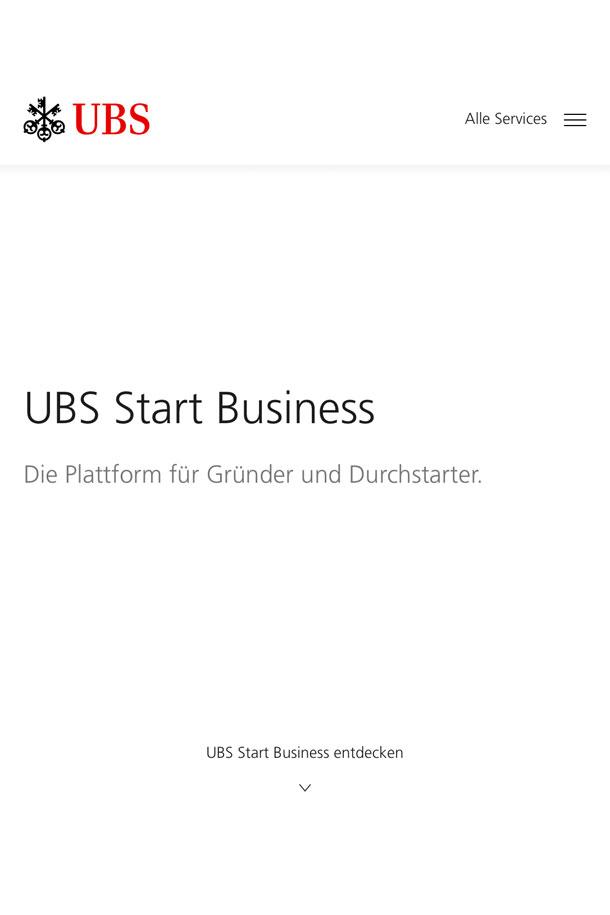 UBS Start Business