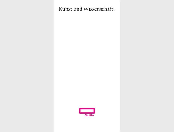 Image-Broschüre für Schweizerisches Institut für Kunstwissenschaft