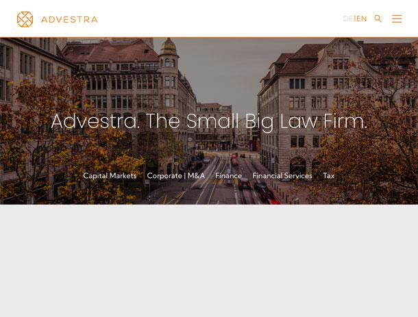 Website für Advestra